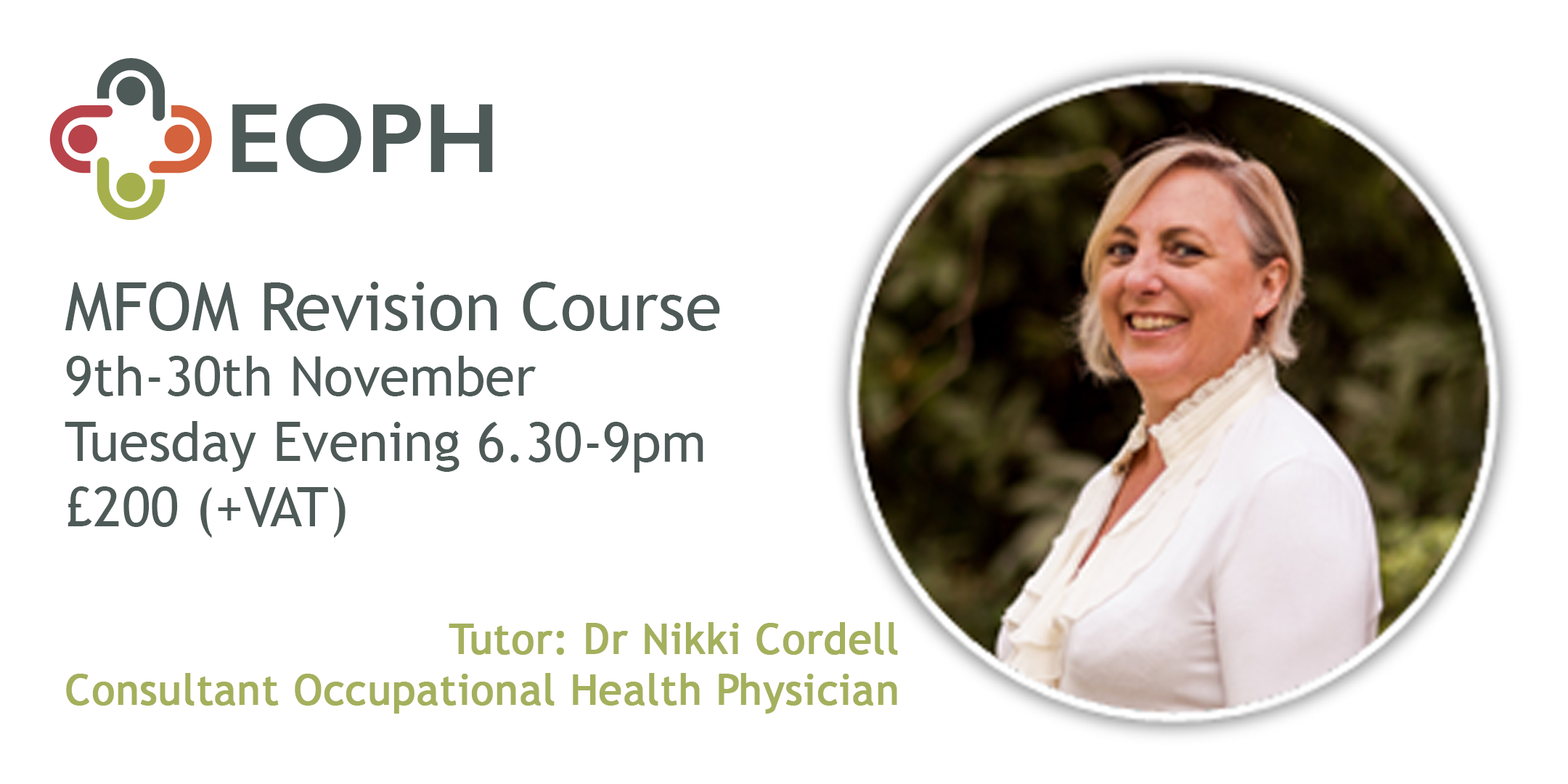 MFOM Revision Course | 4 week course | Starting 9th November 2021 6.30 - 9pm | via Zoom